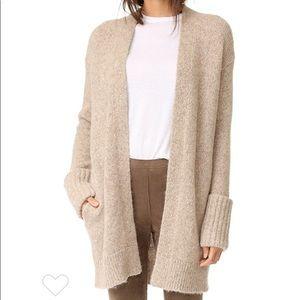 Theory Cashmere Ivory Cardigan Sweater